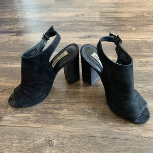 steve madden peep toe heels - size 8